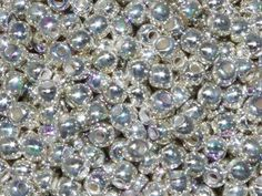 TRUE2™ 2mm Round Druk Beads Fine Silver Plate AB from Nosek's Just Gems