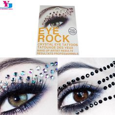 1.08$  Buy here - New Arrival 3D Rhinestone Flash Eye Temporary Tattoo Stickers Glitter Eyeshadow Adesivos Beauty Maquiagem Tatuajes Women Dress   #magazineonlinewebsite