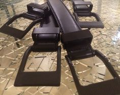 KASPARI 5.45 carbon fiber belts on shattered glass inlay