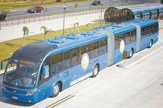 Double articulated bus Volvo Neobus Mega BRT in Curitiba, Brazil