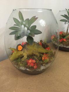 Centro de mesa tema dinossauros