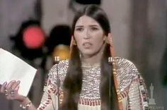 Marlon Brando refused an Oscar in protest of the depiction of Native Americans. Brando sent Native American Rights activist Sacheen Littlefeather in his place.