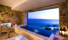 Is it a bath or a pool? With that view who cares... Capella Pedegral Resort, #Mexico.