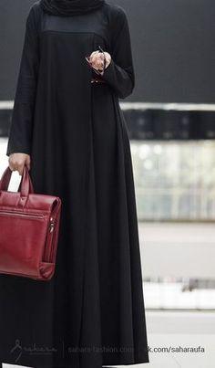 The most beautiful dress in Islam for a women Muslim Dress, Hijab Dress, Hijab Outfit, Islamic Fashion, Muslim Fashion, Abaya Fashion, Fashion Dresses, Modele Hijab, Mode Abaya