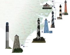 Oak Island lighthouse nc | historic north carolina towers as well click on the the lighthouse ...