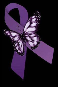 Purple butterfly, purple ribbon are symbols of invisible diseases such as Crohns, Lupus, and Fibromialgia Fibromyalgia Awareness Day, Epilepsy Awareness, Awareness Tattoo, Social Awareness, Lupus Tattoo, Cancer Tattoos, Crohns Tattoo, Pulmonary Hypertension, Cervical Spondylosis