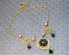 Wicked Queen Black Rose Necklace - Inspired by Snow White And The Huntsman