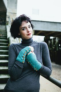 Ravelry: All Buttoned Up Mittens pattern by Tracey Todhunter