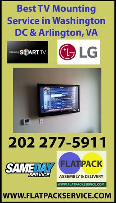 Flatpack Furniture Assembly Service in Washington, DC Maryland & Virginia Tv Wall Mount Installation, Best Tv Wall Mount, Tv Mounting, Furniture Assembly, Wall Mounted Tv, Silver Spring, Washington Dc, Tv On Wall