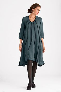 Juilliard Dress: Cynthia Ashby: Woven Dress | Artful Home.  A cross between the minimal and the modular.