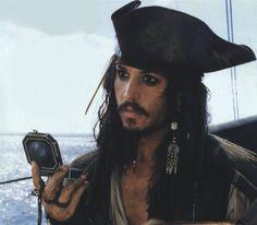 Johnny Depp as the worst but best Pirate: Captain Jack Sparrow...ha...-Mari