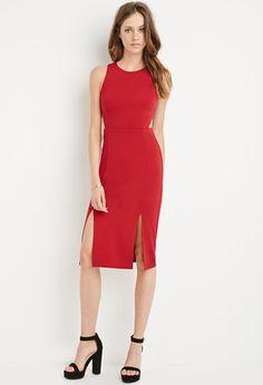 Cutout M-Slit Dress | Forever 21 - 2000172934