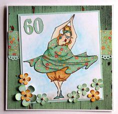Vanha kunnon Dotty ikivanhalla kaavalla eli puettuna.   Tämä on edelleen paras leimasin huumorintajuisten ikinuorten kortteihin.   Kortti o...