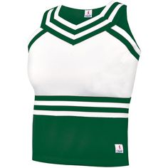 Chassé Sweet Heart Shell Top ($22) ❤ liked on Polyvore featuring tops, cheerleader, cheer, sweetheart neck top, shell tops, sweetheart tank top, green top and sweetheart neckline tank top