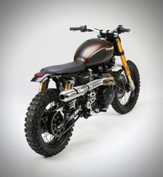 Triumph Rumbler Motorcycle by Tridays - back