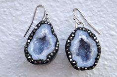 diy geode earrings
