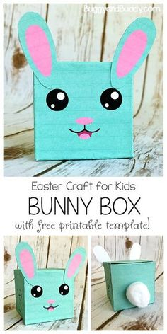 Easy Easter Craft for Kids: Make a Bunny Box with Free Printable Template- Create a cute, little bunny craft using our free PDF and a few crafting supplies. It can be used to hold treats or as a homemade Easter decoration. Perfect for an Easter party or favor box! #Eastercraft #freeprintable #bunnycraft #easterbunnycraft via @https://www.pinterest.com/cmarashian/boards/