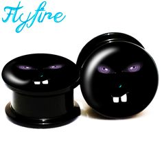 Cheap stretcher hospital, Buy Quality piercing packs directly from China piercing tag Suppliers:               FlyFire Nightmare Logo Screw Fit Black Acrylic Ear Gauges Flesh Ear Tunnels Plugs,Ear Stretcher Expander 6