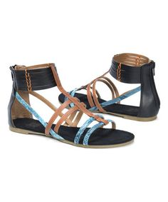 c73f0720ec9f0 Black Tegan Sandal - Women  zulilyfinds Black