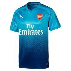 Arsenal Puma Away Football Shirt Polyester Puma Blue Arsenal Shirt, Arsenal Jersey, Arsenal Fc, Sports Jersey Design, Soccer Outfits, Football Shirts, Blue Football, Boys, Mens Tops