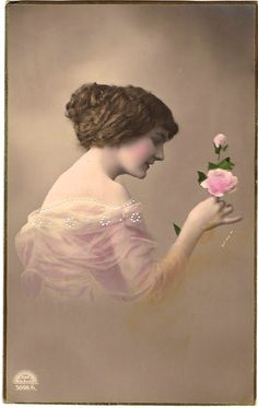 lady with rose.