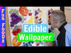 Lickable Wallpaper   How to Make Edible Wallpaper from Willy Wonka and the Chocolate Factory - YouTube Sweet 16 Decorations, Quince Decorations, Candy Centerpieces, Wedding Reception Centerpieces, Roald Dahl Day, Birthday Wallpaper, Willy Wonka, Chocolate Factory, Candyland
