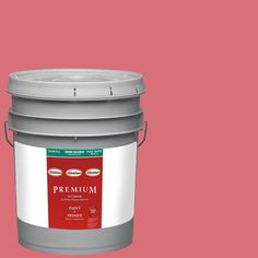 Glidden Premium 5-gal. #HDGR34U Strawberry Rouge Semi-Gloss Latex Interior Paint with Primer