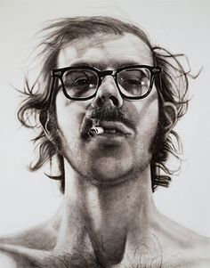 """Chuck Close """"Self Portrait"""" 1967-1968, just look at the realism and detail that appears in this work, it is mind blowing."""