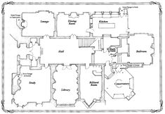 Clue Movie 1985 - House Planfloor plans for the house