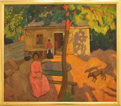 Robert Rafailovich Falk (1886-1958) Landscape with a Dog, 1910, oil on canvas (Sergei P. Zubkov) Tags: november art painting czech prague praha fair palace trade 2011 palác veletržní
