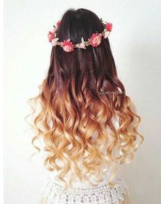 Super cute ombre for long hair
