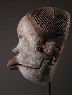 """Art et Afrique - Nigeria / Gabon Masque Ogoni """" Nigeria"""""""