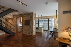 """Brick Veneer; everywhere(!)  What looks like real brick is actually a faux brick.  Placed piece by piece like normal brick; this veneer is only 3/4"""" thick.  #Design #City #Chicago"""
