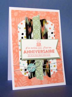 Carte Anniversaire Stampin'Up Sale A Bration 2014