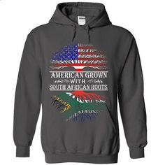 AMERICAN grown South African roots - #tee quotes #oversized tshirt. MORE INFO => https://www.sunfrog.com/States/AMERICAN-grown-South-African-roots-2648-Charcoal-Hoodie.html?68278