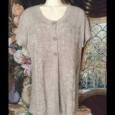 "❄️ Adorable 3 Button Sweater ❄️ ""Oatmeal Marle"" easy layering sweater. Gently worn - no snags. Great with leggings or jeans with boots or flats. 100% Acrylic. Machine wash cold. Faded Glory Sweaters Cardigans"