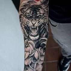 """Gefällt 605 Mal, 8 Kommentare - John Lewis (@tattoosbylewis) auf Instagram: """"Done earlier jap style tiger"""""""