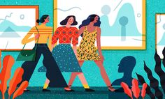 Illustrations for STELLA magazine about overeating when going out with friends. Thanks to AD Jason Morris!