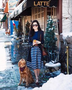 Sarah Vickers, of @sarahkjp, in the Striped A-Line Skirt