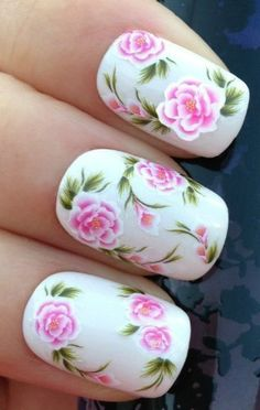 NiceDeco  nail stickers nail tattoo nail deacl water stickers transfers PINK WILD ROSE FLOWERS BUTTERFLIES -- Check this awesome product by going to the link at the image. Note:It is Affiliate Link to Amazon.