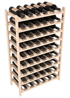 54 Bottle Stackable Wine Rack
