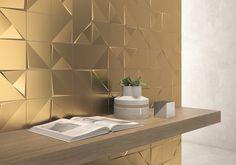 装飾タイル「Aleatory Gold」施工事例