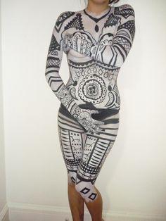 Body Painting, 2014. Unfinished. Body Painting, Bodycon Dress, Pattern, Dresses, Fashion, Bodypainting, Vestidos, Moda, Body Paint