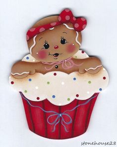 Gingerbread Cupcakes, Gingerbread Decorations, Gingerbread Ornaments, Christmas Gingerbread, Christmas Decorations, Christmas Rock, Christmas Candy, Christmas Projects, Christmas Crafts