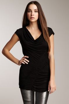 Cowl Neck Ruched Tunic..love!