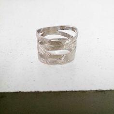 anillo plata 925 con acabado fiorentino