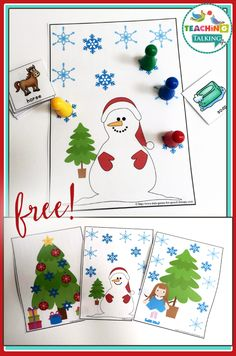 3 FREE open-ended game boards to use with just about any speech and language goal. Merry Christmas Theme!