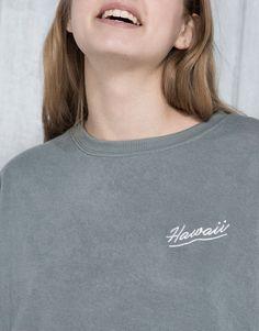 4e5fed4f2618 Pull Bear - pacific girls - sweatshirts - embroidered sweatshirt - mint -  05591317-V2016 Pacific