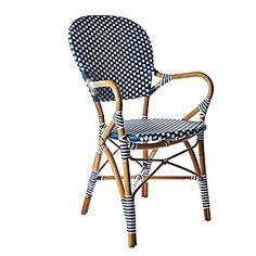 Navy and White European bistro chair