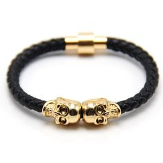 Leather Punk Skull Man bracelets & bangles //Price: $9.95 & FREE Shipping // Wholesale-Star    #Sale   #FashionMagazine